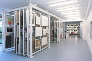 Hanging Art Museum Storage System